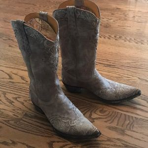 Old Gringo Light Tan Embroidered Boot Size 9 1/2